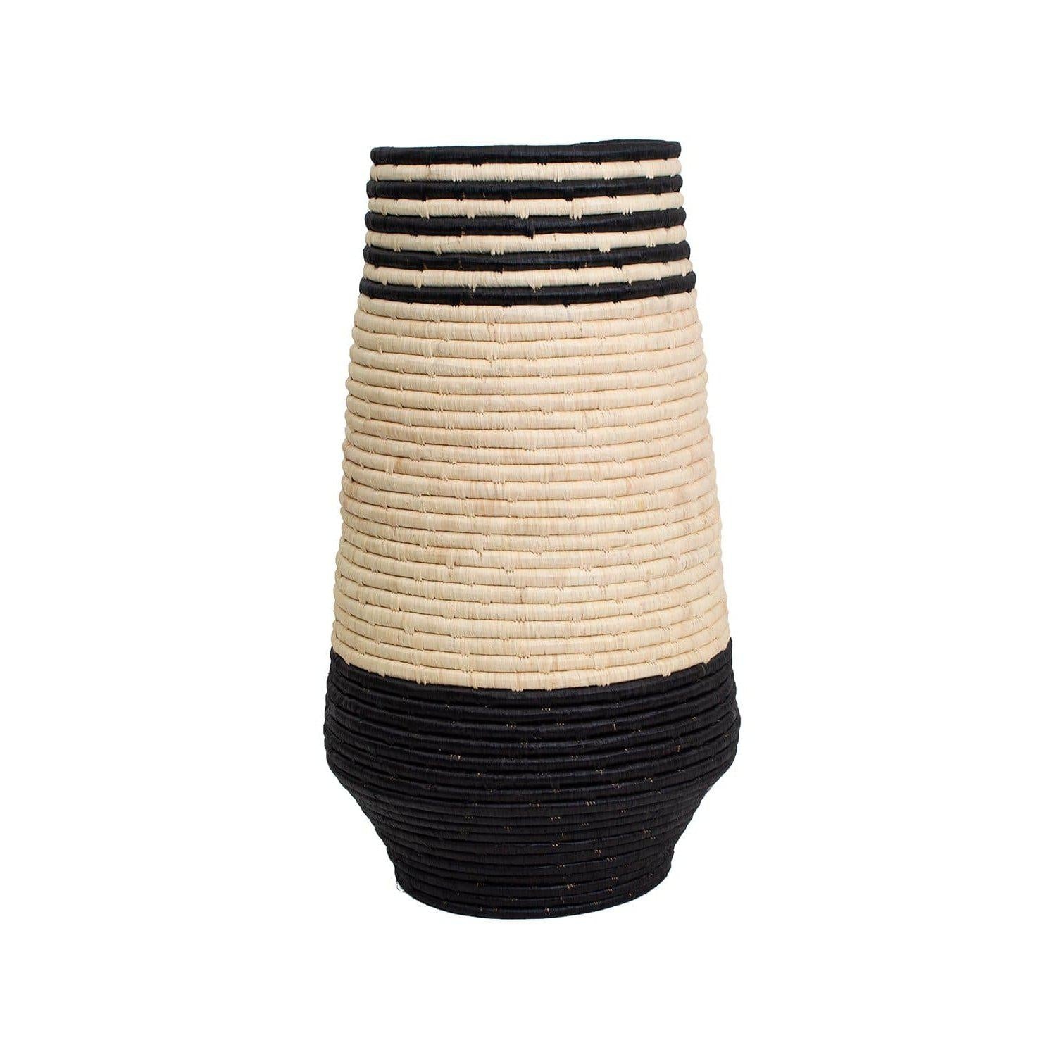 Black Daria Floor Vase