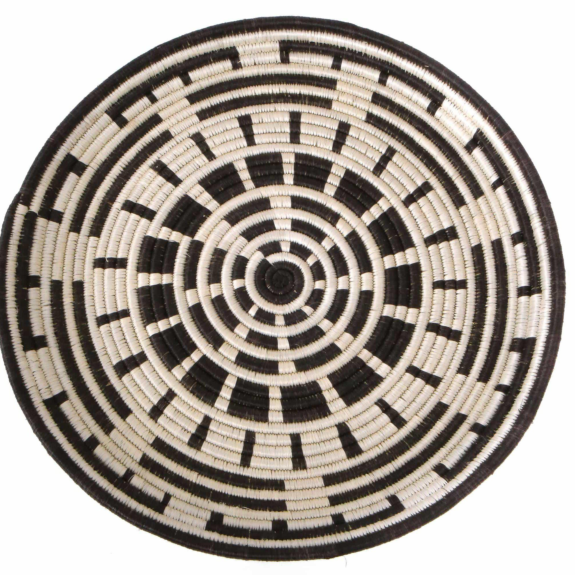 Black Geo Wall Plate Decor | woven wall baskets | rattan wall decor | decorative plate | boho wall decor | plate decor | wall decor | wall art | home decor | african