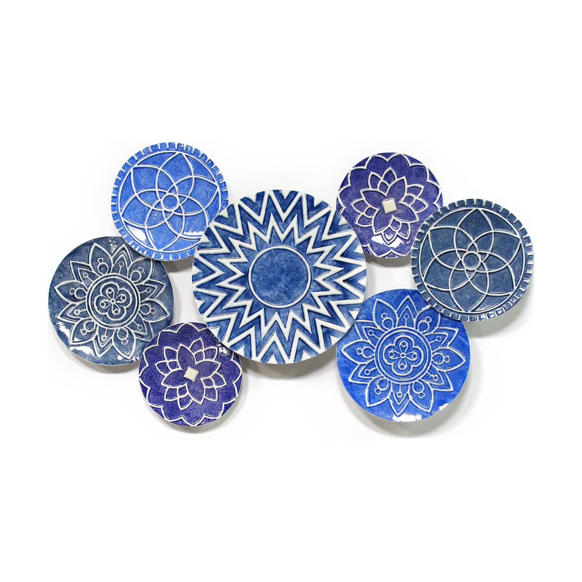 Blue White Wall Plate Decor