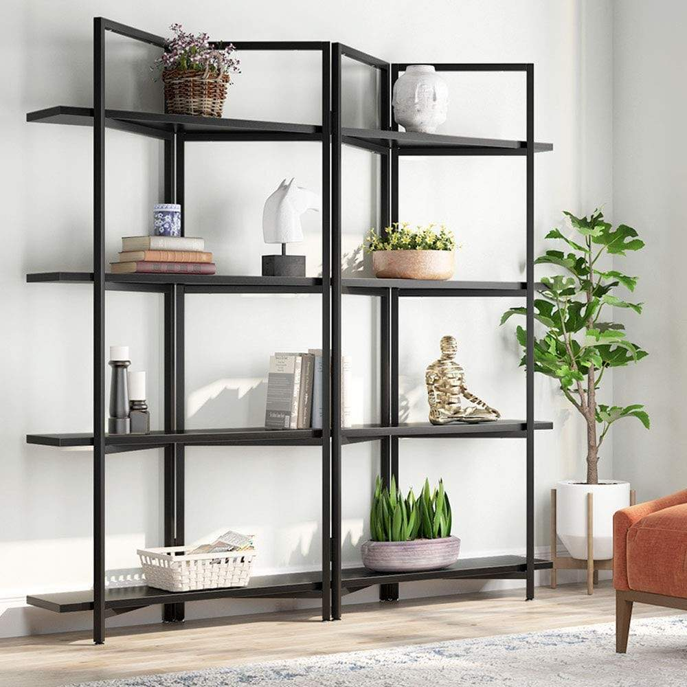 Foldable 4-Tier Open Bookcase