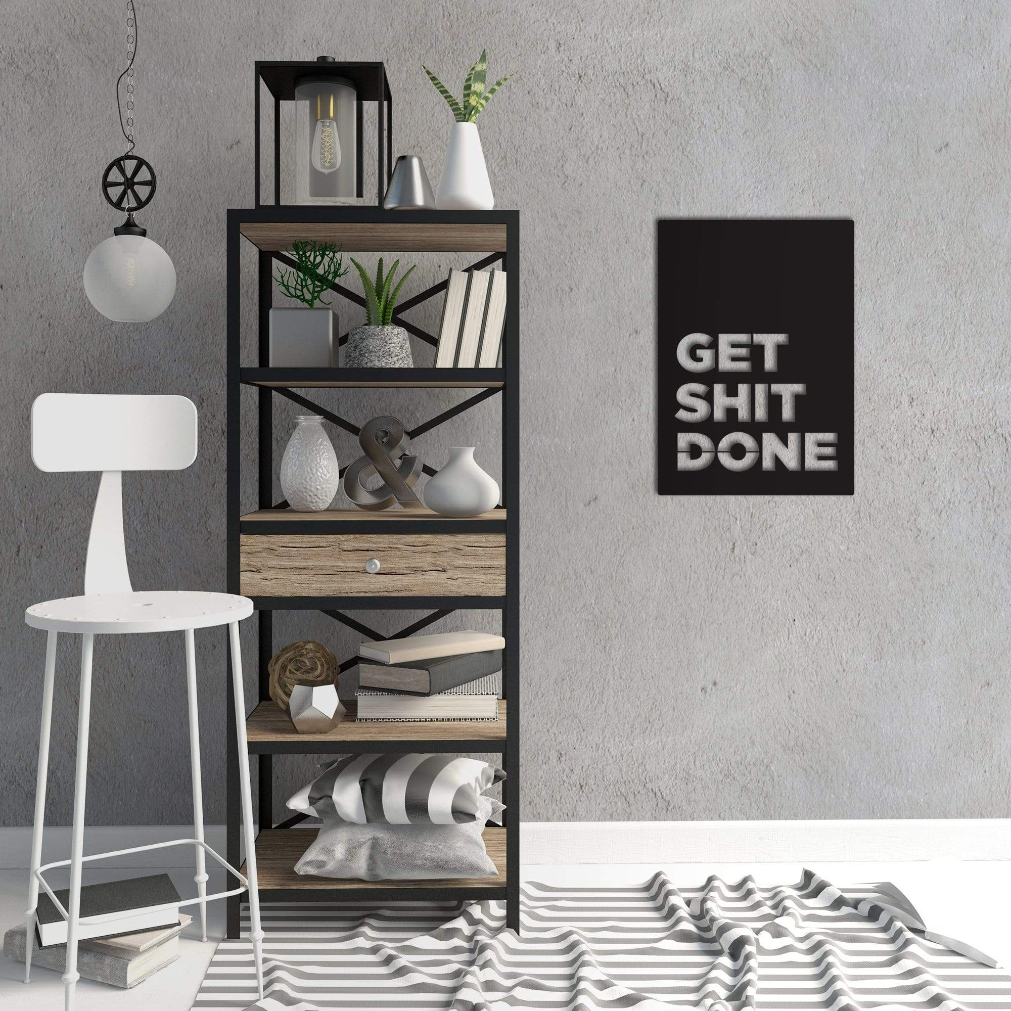 Get Shit Done - Metal Wall Art