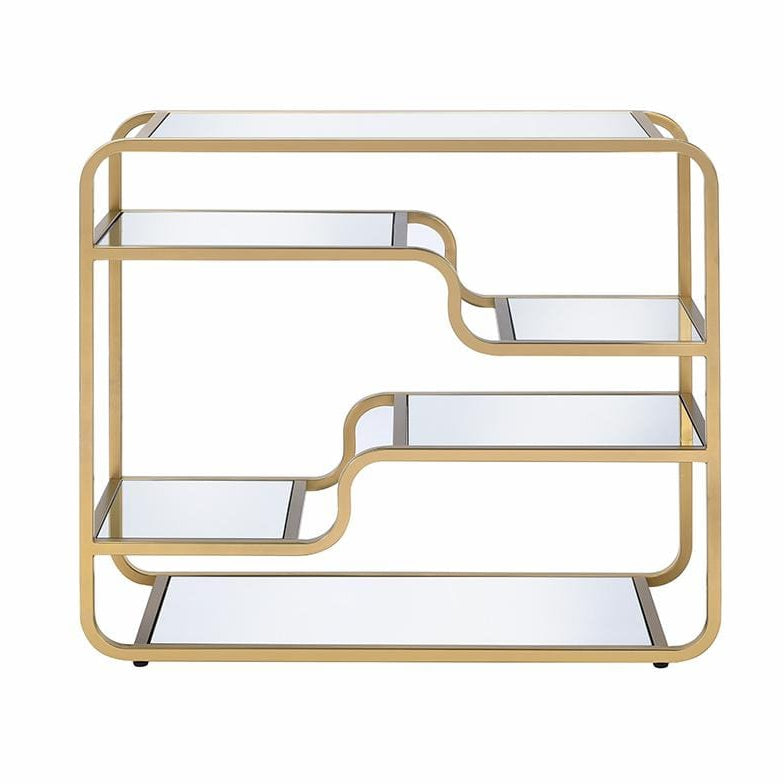 Gold And Glass Bar Table