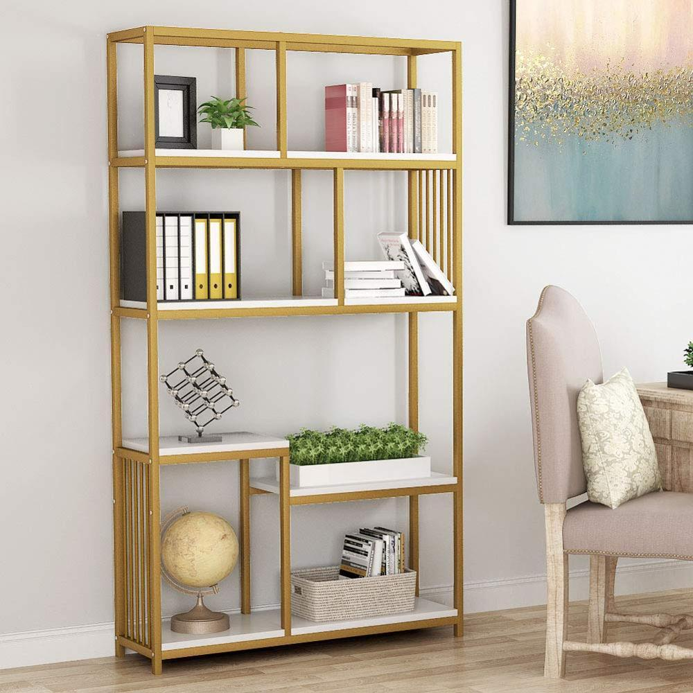 Golden Metal Open Bookcase