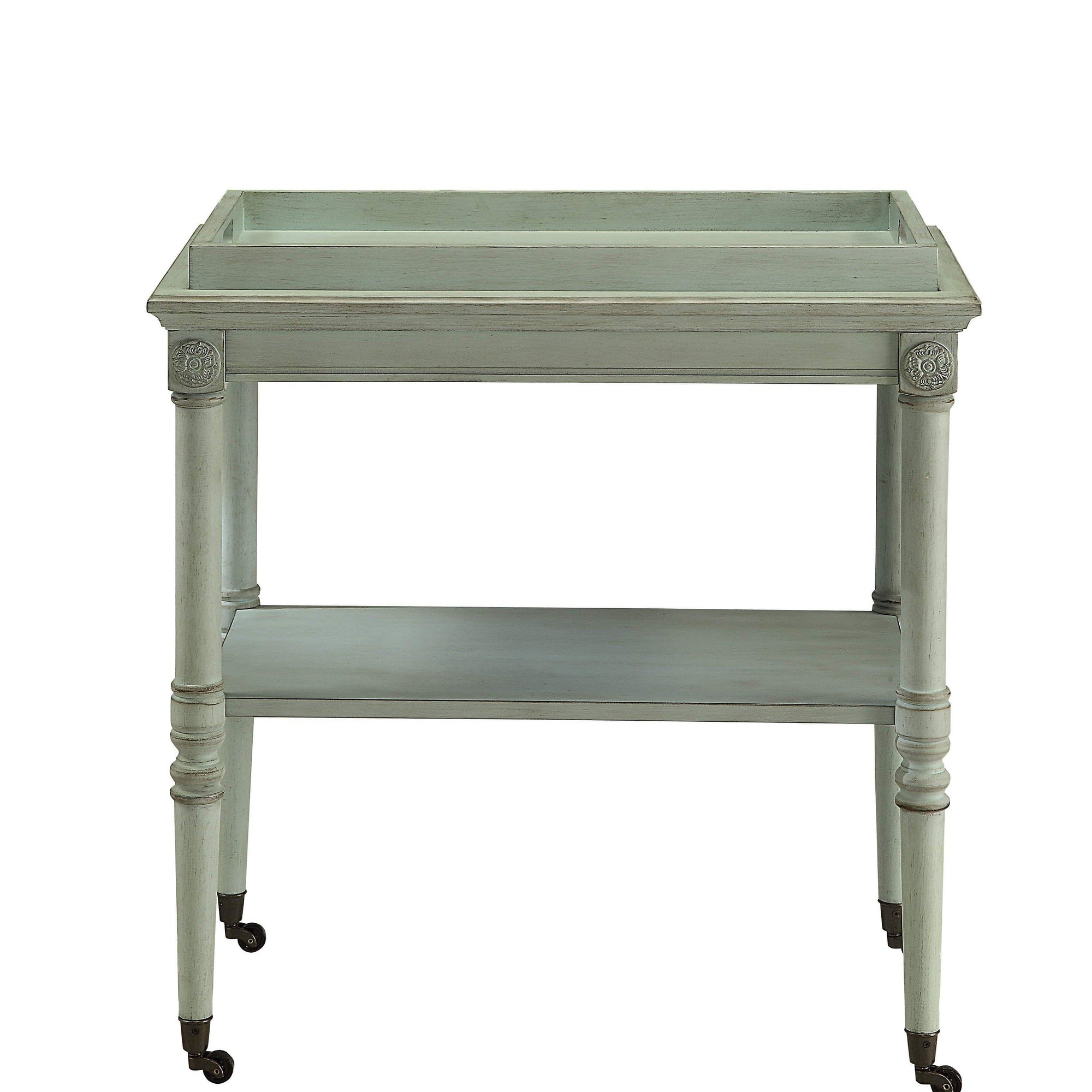 Green Antique French Tray Table