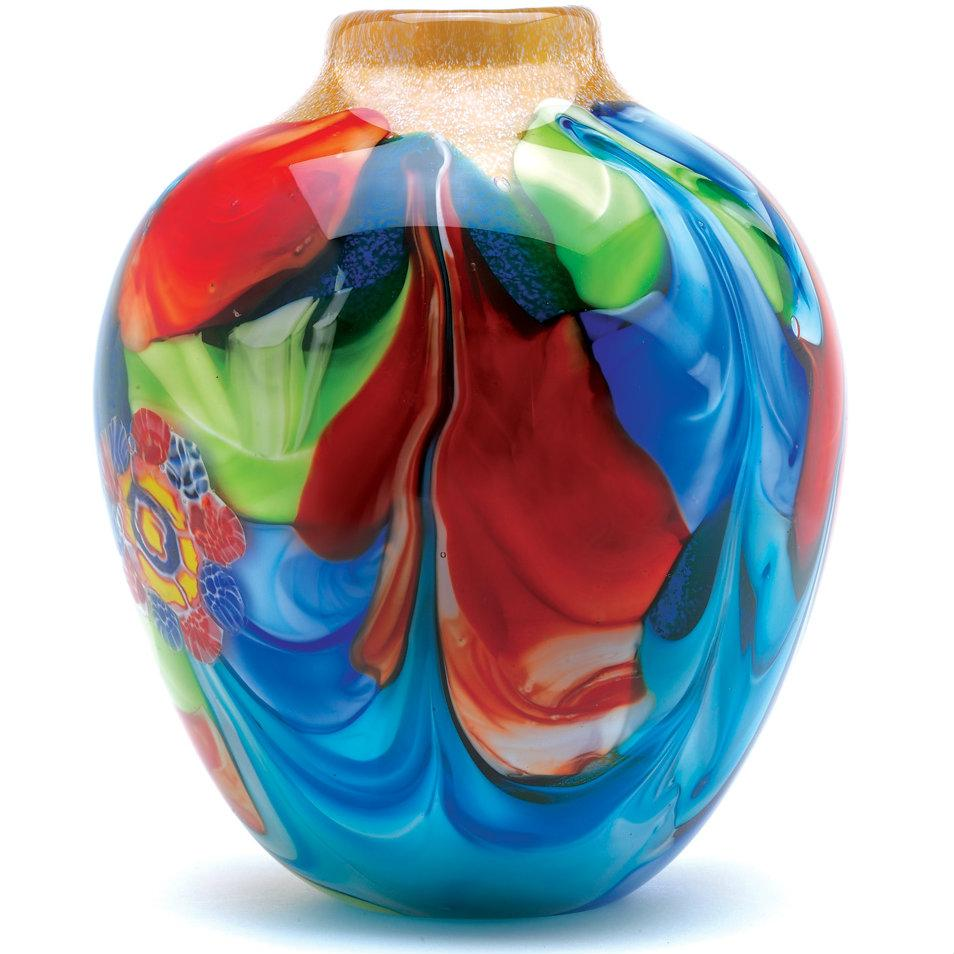 Handcrafted Art Glass Vase