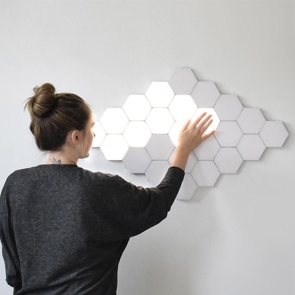 Hexagonal Modular Touch Wall Lamp - 16 Pcs