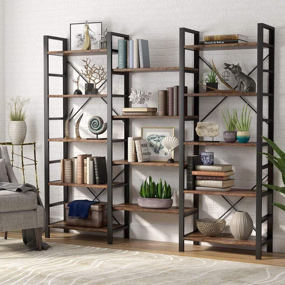 Large Open 5 Shelf Bookcase