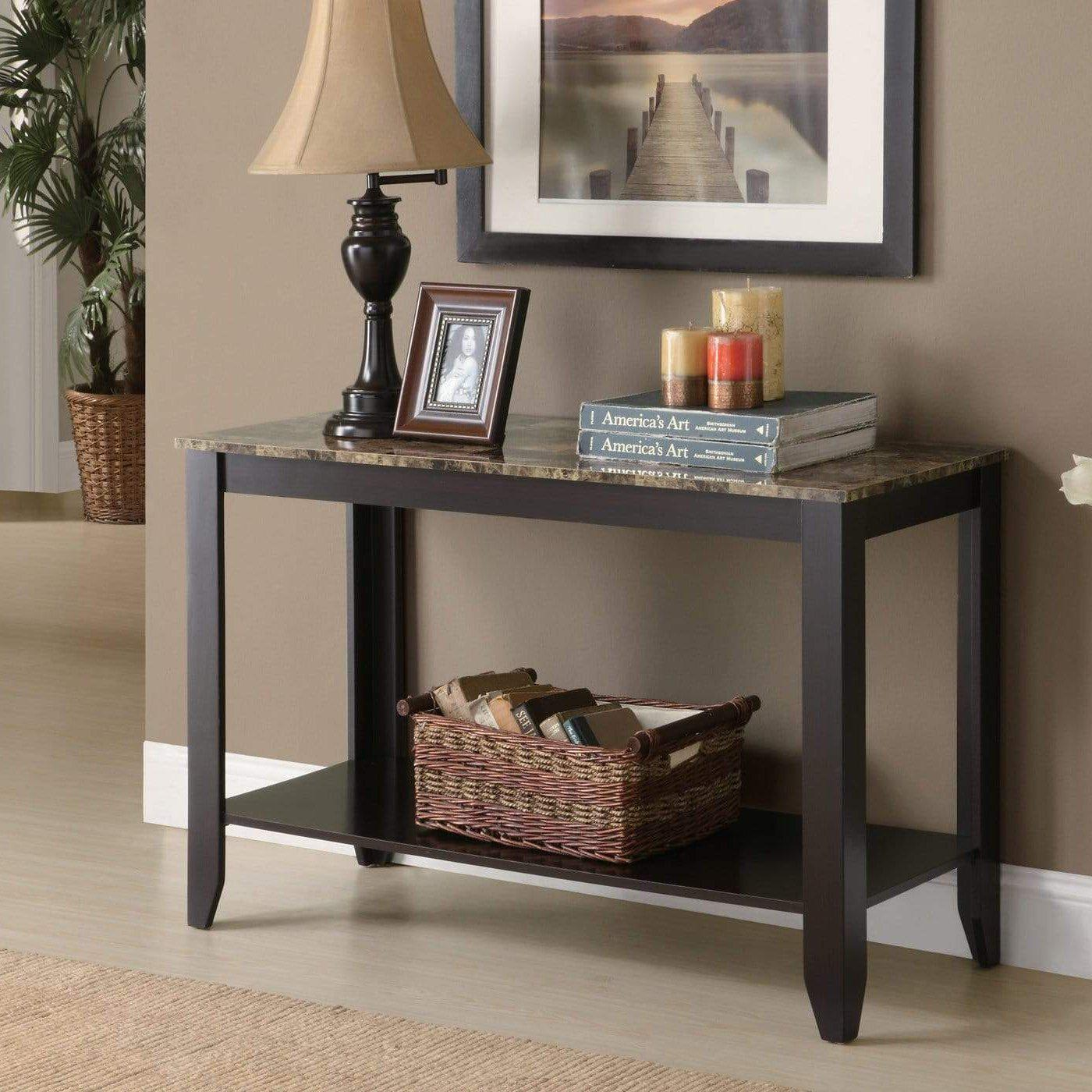 Modern Cappuccino Accent Table