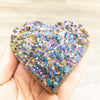 Rainbow Amethyst Heart Large