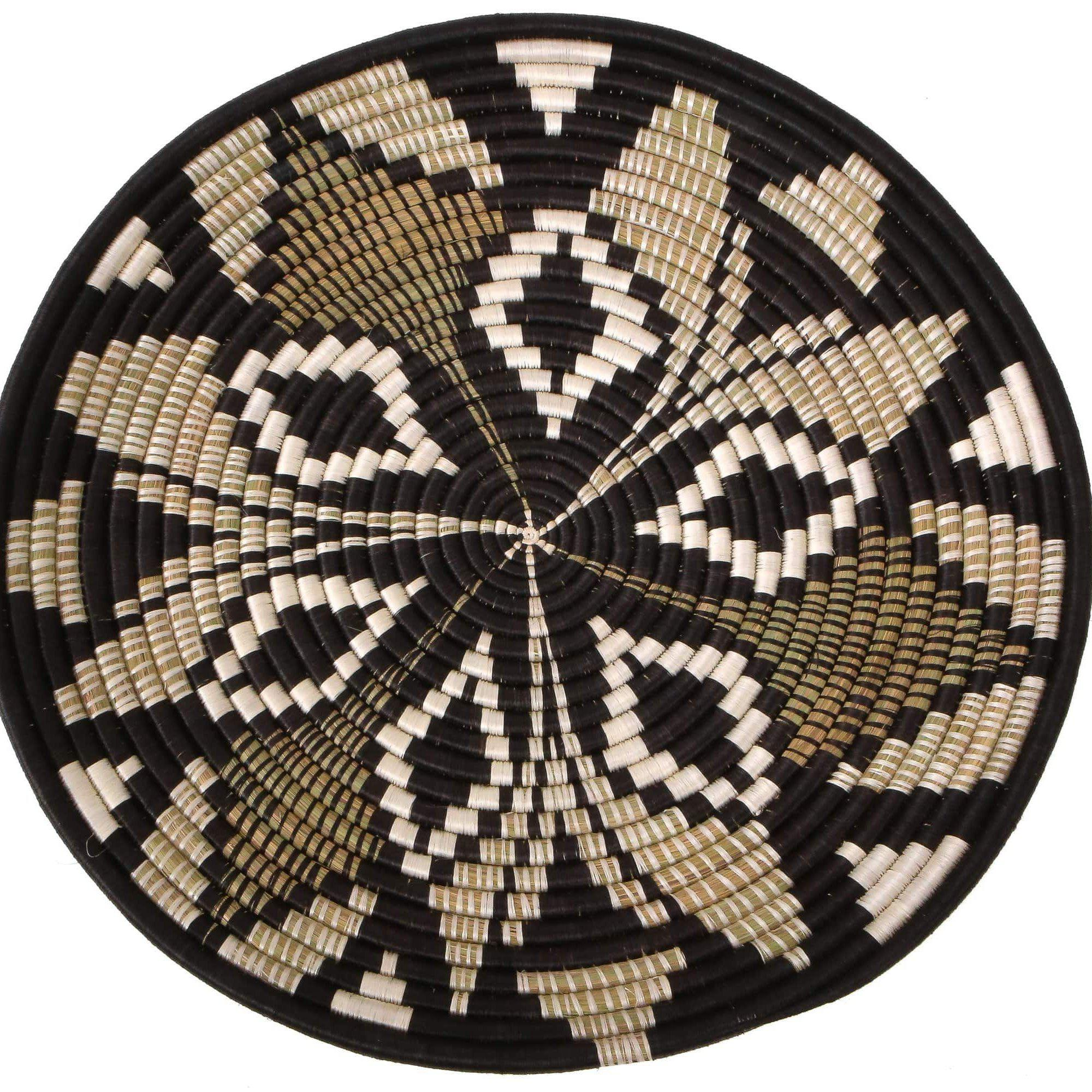 Tilda Woven Black Wall Art Plate | woven wall baskets | rattan wall decor | decorative plate | boho wall decor | plate decor | wall decor | wall art | home decor