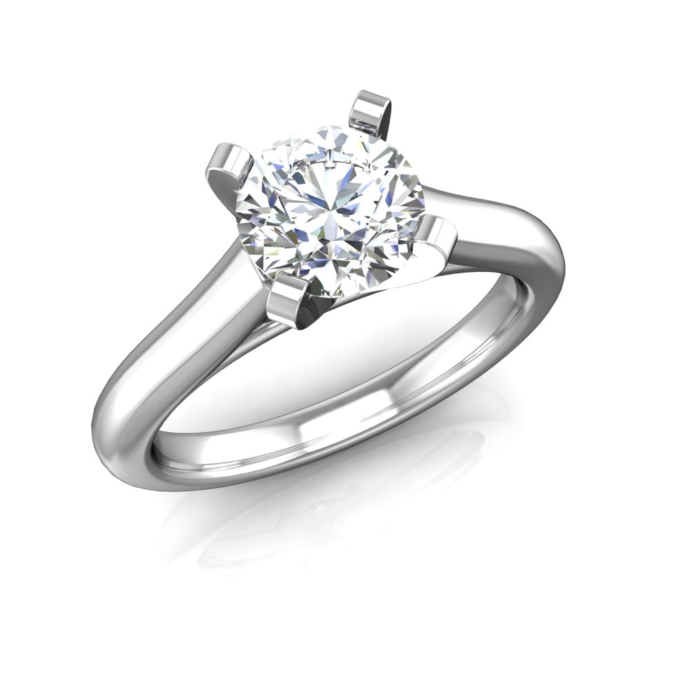ER-2BSP Solitaire Cathedral Engagement Ring