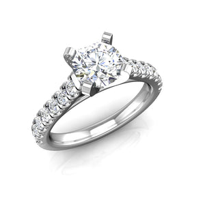 ER-3VC2 Pavé Set Cathedral Engagement Ring 3/8 Carat TDW