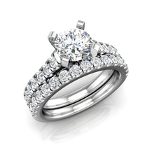 Load image into Gallery viewer, ER-3VC2 Pavé Set Cathedral Engagement Ring 3/8 Carat TDW