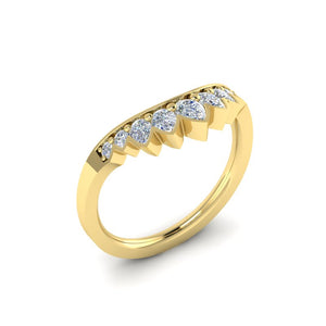FWB-764    Nine Stone Pear Shaped Contour Band .52ct T.D.W