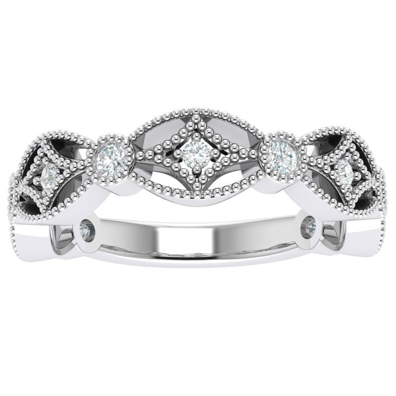 The Jessica .25 Carat Diamond Stackable Band