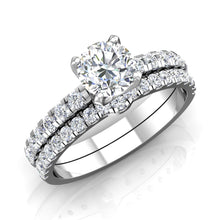 Load image into Gallery viewer, LE337 Round Engagement Ring 3/8  Carat TDW