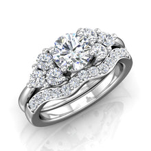 Load image into Gallery viewer, LE338 Round Engagement Ring 1/3  Carat TDW