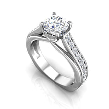 Load image into Gallery viewer, LE339 Round Engagement Ring 1/2  Carat TDW