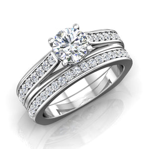 LE339 Round Engagement Ring 1/2  Carat TDW