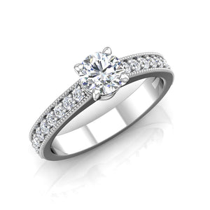 LE340 Round Engagement Ring 1/3  Carat TDW