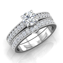 Load image into Gallery viewer, LE340 Round Engagement Ring 1/3  Carat TDW
