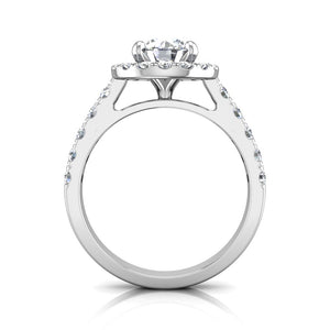 LE342 Round Engagement Ring 3/4  Carat TDW