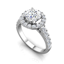 Load image into Gallery viewer, LE342 Round Engagement Ring 3/4  Carat TDW