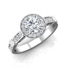 Load image into Gallery viewer, LE343 Round Engagement Ring 3/8  Carat TDW
