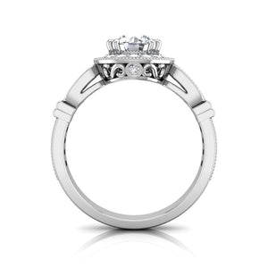 LE343 Round Engagement Ring 3/8  Carat TDW