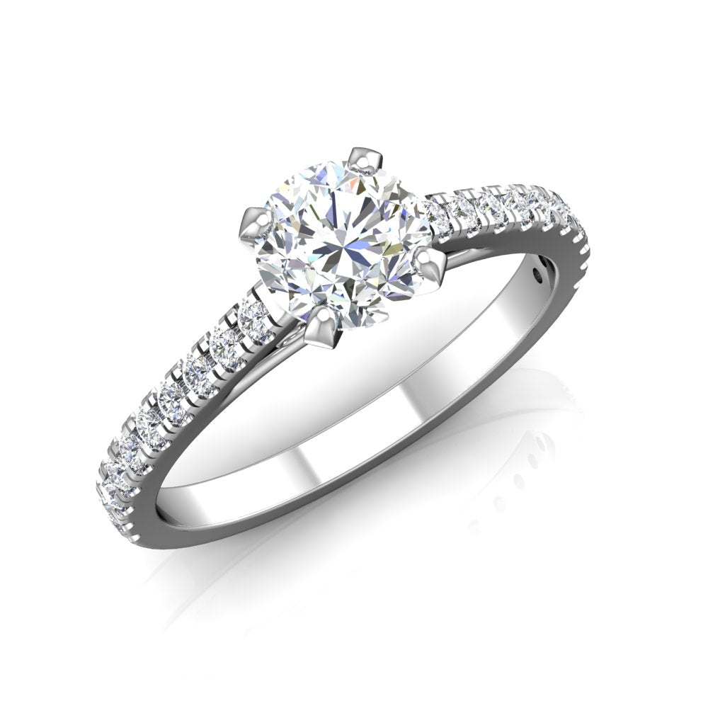 LE345 Round Engagement Ring 1/3  Carat TDW