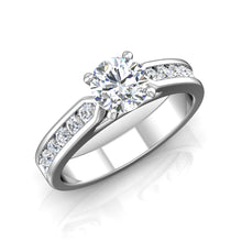 Load image into Gallery viewer, LE346 Round Engagement Ring 1/2  Carat TDW
