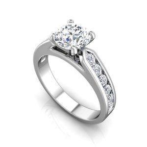 LE346 Round Engagement Ring 1/2  Carat TDW