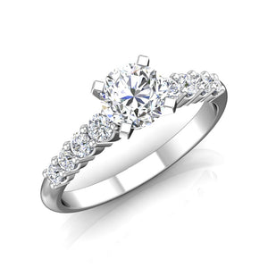 LE347 Round Engagement Ring 3/8  Carat TDW