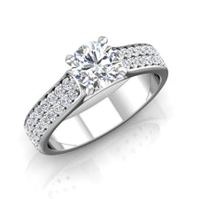 Load image into Gallery viewer, LE348 Round Engagement Ring 5/8  Carat TDW