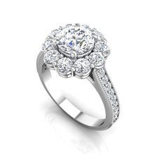 Load image into Gallery viewer, LE349 Round Engagement Ring 3/4  Carat TDW