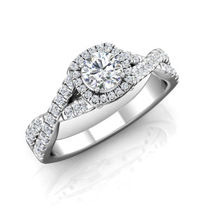 LE350 Round Engagement Ring 5/8  Carat TDW