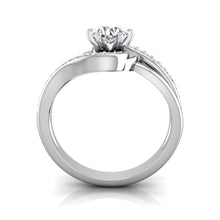 Load image into Gallery viewer, LE356 Round Engagement Ring 1/5  Carat TDW