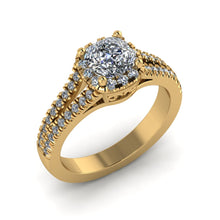 Load image into Gallery viewer, LEE-1208 Cushion Cut Engagement Ring 1/2  Carat TDW