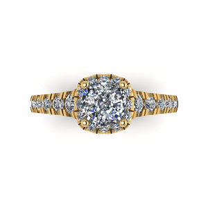 LEE-1209 Cushion Cut Engagement Ring 1/2  Carat TDW