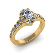 Load image into Gallery viewer, LEE-1211 Oval Engagement Ring 1/2 Carat TDW
