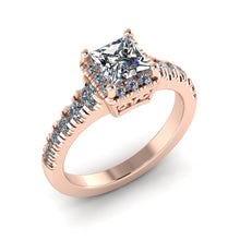 Load image into Gallery viewer, LEE-1213 Princess Cut Engagement Ring 1/2 Carat TDW