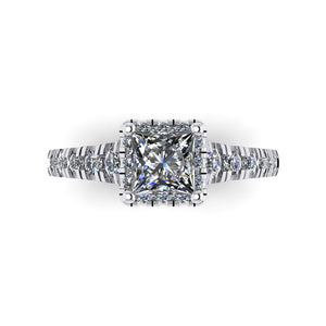 LEE-1213 Princess Cut Engagement Ring 1/2 Carat TDW