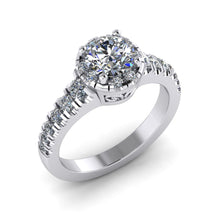 Load image into Gallery viewer, LEE-1217 Round Engagement Ring 1/2 Carat TDW