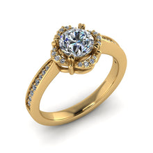 Load image into Gallery viewer, LEE-1222 Round Engagement Ring 1/5 Carat TDW