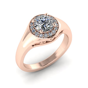 LEE-1223 Round Engagement Ring 1/5 Carat TDW
