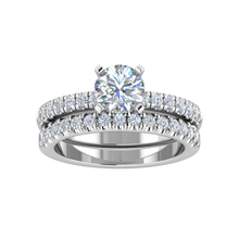 Load image into Gallery viewer, LW131-1.7 Petite Pavé 1/3 Carat Wedding Band