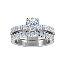 Load image into Gallery viewer, LW131-2.0 Petite Pavé 1/2 Carat Wedding Band