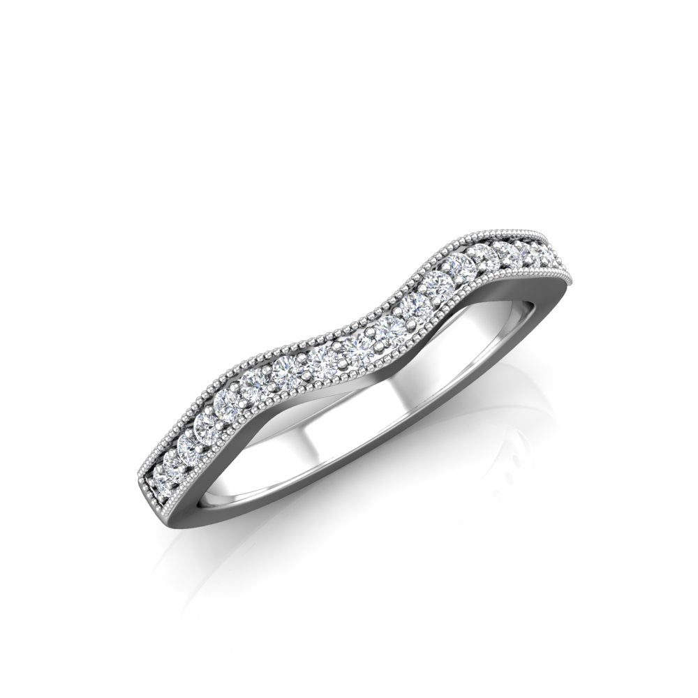 LW355 Matching Wedding Band 1/4  Carat TDW