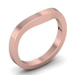 Flat Contour Wedding Band