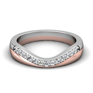 CWB-W Two Toned Diamond Band .20 ct. T.D.W